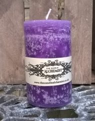 Highly fragranced Blueberry Scented Pillar Candle