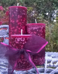 Cranberry & Pomegranate Candles handmade on Anglesey