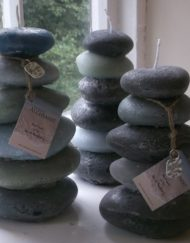 Pebble Stack Candles