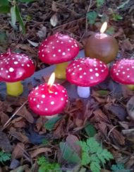 Toadstool Candles