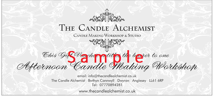 candle making class gift voucher